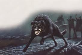 The Black Shuck is a large horrifying beast