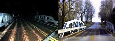 Elmore bridge day and night