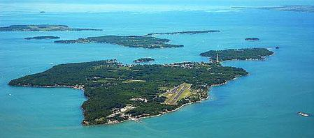 Aerial view of South Bass island Put in Bay