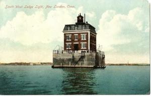 New London Ledge Lighthouse postcard