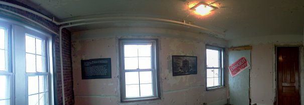 Deteriorating room in the New London Ledge Lighthouse