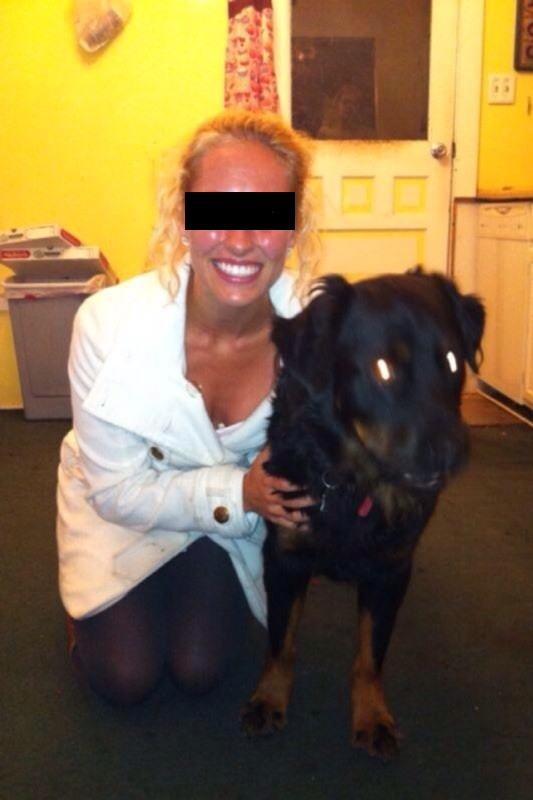 Facebook Ghost Photo with woman and dog