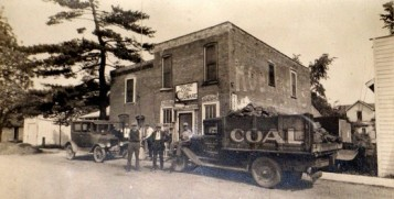 The building when it was used as a coal company