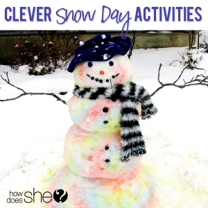 Another clever snow day activity?  Finishing the blog you started before Christmas!