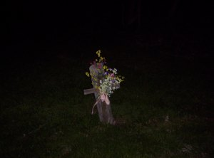 a memorial to an accident at the Tindall bridge in Fremont