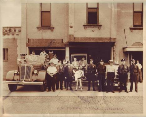 Fire and Police Departments geared up for the 1954 Fostoria Centennial